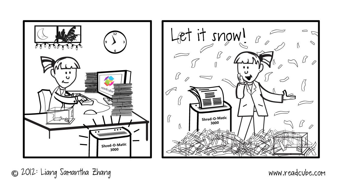 ReadCube Papers Holiday 2012 Cartoon